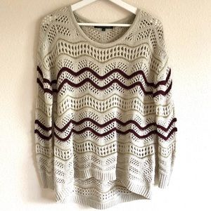 Foreign Exchange Wavy Knit Sweater